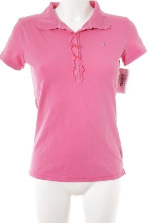 Hilfiger Denim Polo-Shirt pink Logostickerei