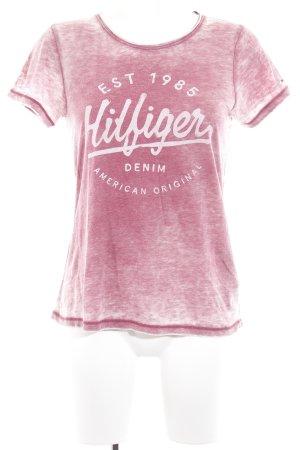 Hilfiger Denim Print-Shirt magenta sportlicher Stil