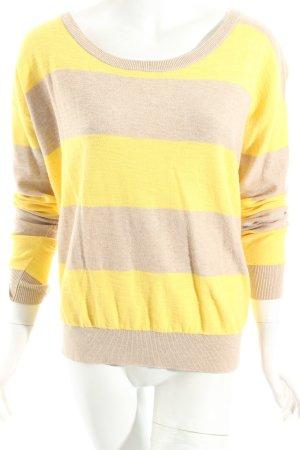 Hilfiger Denim Pullover gelb-beige Streifenmuster Casual-Look