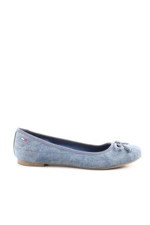 Hilfiger Denim Riemchen Ballerinas blau Casual-Look