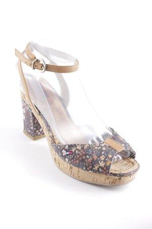 Hilfiger Denim Strapped High-Heeled Sandals floral pattern romantic style