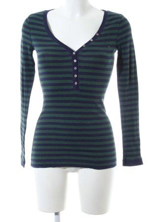 Hilfiger Denim Ringelshirt blau-grün Streifenmuster Casual-Look