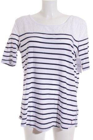 Hilfiger Denim Stripe Shirt dark blue-white casual look