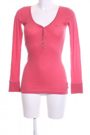 Hilfiger Denim Camicia a coste rosa stile casual