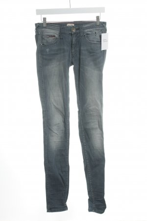 Hilfiger Denim Röhrenhose graublau Used-Optik