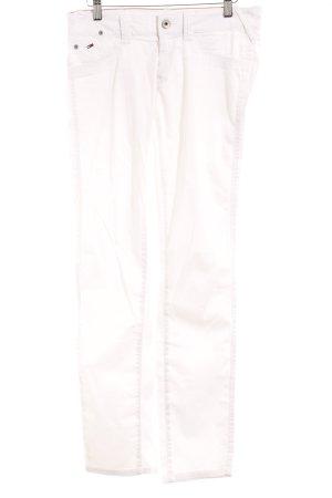 Hilfiger Denim Drainpipe Trousers white casual look