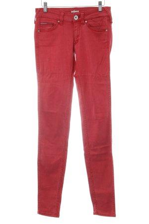 Hilfiger Denim Pantalon cigarette rouge brique style décontracté
