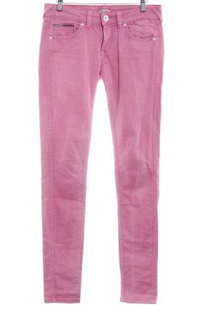 Hilfiger Denim Röhrenjeans pink Casual-Look