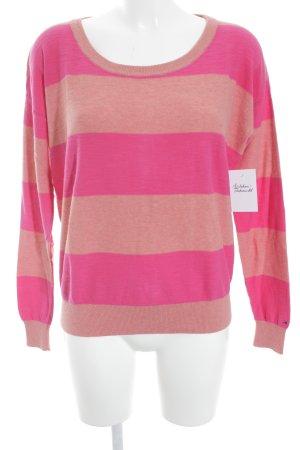 Hilfiger Denim Rundhalspullover pink-hellorange Streifenmuster Casual-Look