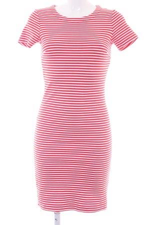 Hilfiger Denim Schlauchkleid rot-weiß Streifenmuster Casual-Look