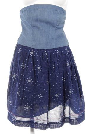 Hilfiger Denim schulterfreies Kleid grafisches Muster Casual-Look