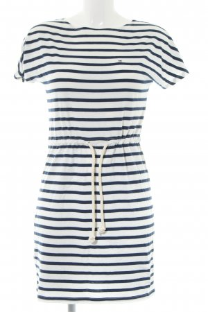 Hilfiger Denim Shirtkleid schwarz-weiß Streifenmuster Casual-Look