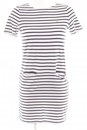 Hilfiger Denim Shirtkleid weiß-dunkelblau Ringelmuster Casual-Look