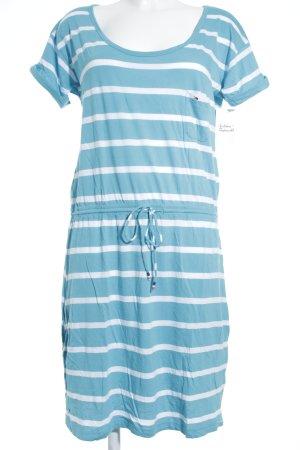 Hilfiger Denim Shirtkleid weiß-türkis Streifenmuster Beach-Look