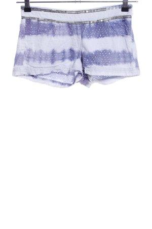 Hilfiger Denim Shorts weiß-lila Farbverlauf Casual-Look