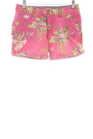 Hilfiger Denim Shorts pink-blassgelb Allover-Druck Casual-Look