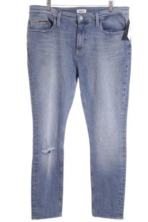 Hilfiger Denim Skinny Jeans blau Destroy-Optik