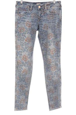 Hilfiger Denim Skinny Jeans blau-roségoldfarben florales Muster Casual-Look