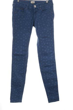 Hilfiger Denim Skinny Jeans blau Sternenmuster Casual-Look