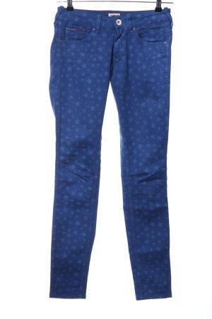 Hilfiger Denim Skinny Jeans blau Allover-Druck Casual-Look