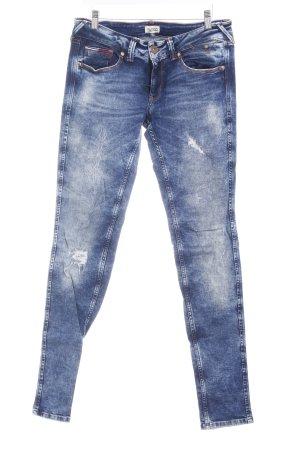 Hilfiger Denim Skinny Jeans dunkelblau-hellbeige Destroy-Optik