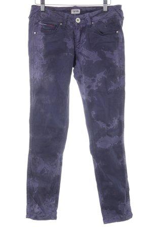 Hilfiger Denim Skinny Jeans graulila-stahlblau abstraktes Muster
