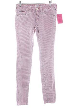 Hilfiger Denim Skinny Jeans rosa-dunkelblau Streifenmuster Casual-Look