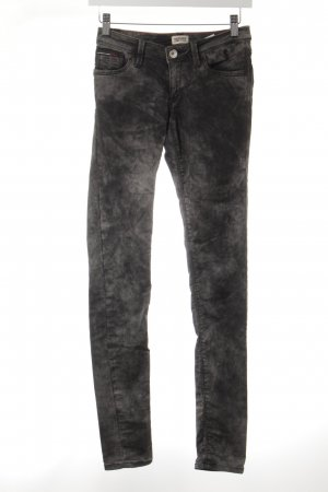 Hilfiger Denim Skinny Jeans schwarz-grau Allover-Druck Casual-Look