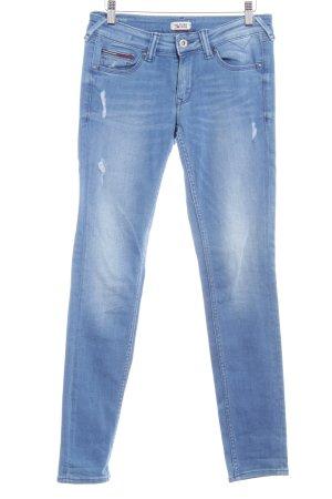 Hilfiger Denim Skinny Jeans stahlblau Bleached-Optik