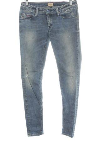 Hilfiger Denim Skinny Jeans stahlblau meliert Jeans-Optik