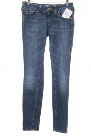 Hilfiger Denim Skinny Jeans stahlblau Washed-Optik