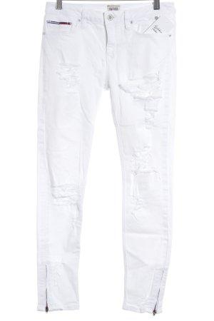 Hilfiger Denim Skinny Jeans weiß Street-Fashion-Look