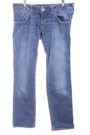 Hilfiger Denim Slim Jeans blau Bleached-Optik