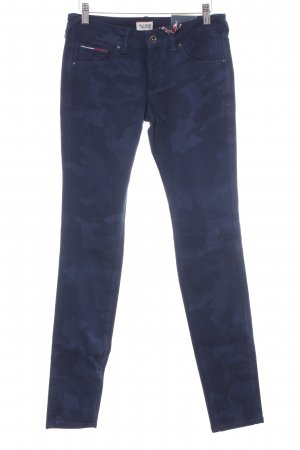 Hilfiger Denim Slim Jeans blau-dunkelblau Camouflagemuster Military-Look