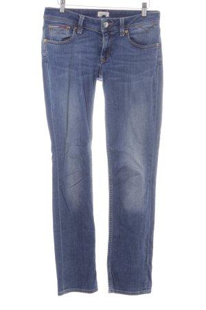 Hilfiger Denim Slim Jeans dunkelblau Street-Fashion-Look