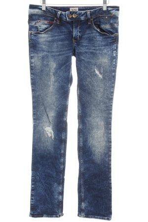 Hilfiger Denim Slim Jeans dunkelblau-weiß Casual-Look