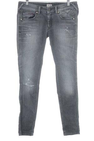 Hilfiger Denim Slim Jeans dunkelgrau-grau meliert Biker-Look
