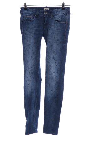 Hilfiger Denim Slim Jeans blau Motivdruck Casual-Look