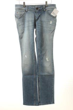 Hilfiger Denim Slim Jeans hellblau Used-Optik