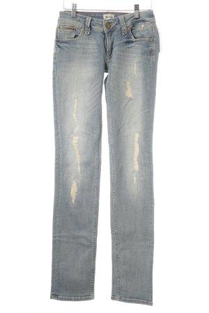 Hilfiger Denim Slim Jeans kornblumenblau-creme Destroy-Optik