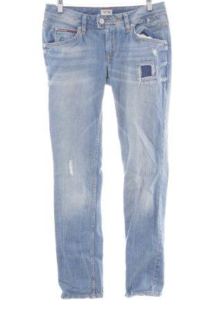 Hilfiger Denim Slim Jeans stahlblau-hellbeige Casual-Look