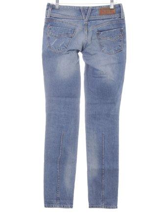 Hilfiger Denim Slim Jeans stahlblau-himmelblau Destroy-Optik