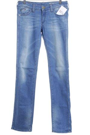 Hilfiger Denim Slim Jeans weiß-kornblumenblau Jeans-Optik