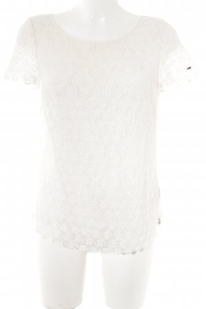 Hilfiger Denim Lace Top natural white casual look