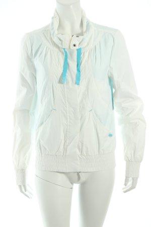 Hilfiger Denim Sportjacke weiß-neonblau minimalistischer Stil