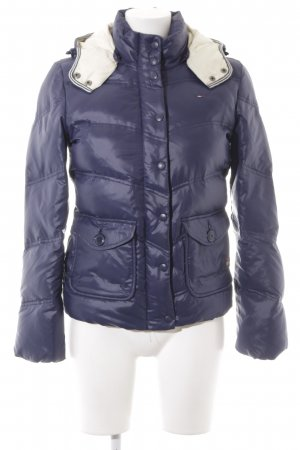 Hilfiger Denim Quilted Jacket dark blue-oatmeal quilting pattern classic style