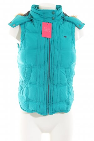 Hilfiger Denim Quilted Gilet turquoise quilting pattern casual look