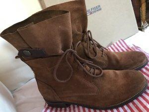 Hilfiger Denim Stiefel Boots Cognac Schnürstiefel Stylisch