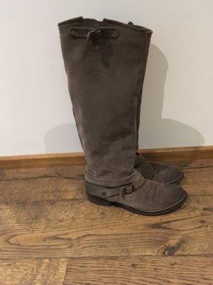 Hilfiger Denim Stiefel Wildleder 38 Farbe schlamm günstig zu verkaufen