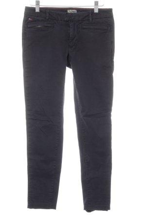 Hilfiger Denim Pantalon en jersey bleu foncé-noir